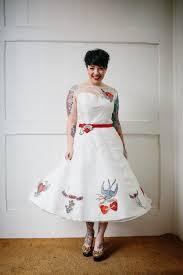 custom made wedding dresses uk rockabilly tattooed wedding dress tattoo inkedweddings