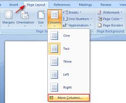 microsoft word how to divide text into multiple columns