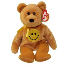 ty beanie baby dimples the smiley face bear internet exclusive