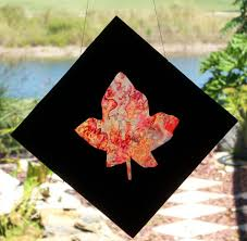 Kids Stained Glass Craft - how to make stained glass leaves friday fun craft projects