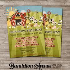 barnyard bash farm birthday invitation dandelion avenue