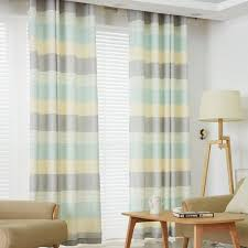 Horizontal Stripe Curtains Colorful Linen And Cotton Contemporary Horizontal Striped Curtains