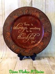 thanksgiving charger plates personalized plate fall decor