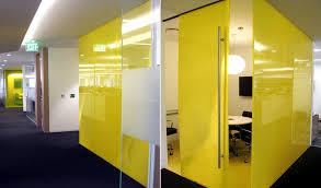 case study directionally transparent partition walls for group