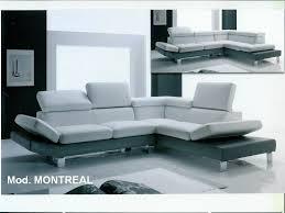 plan canapé canapé cuir design bicolore modèle montréal magasin de meubles