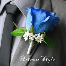royal blue boutonniere boutonniere royal blue silk lapel flower wedding