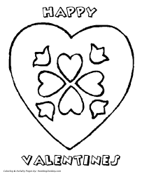 valentine u0027s hearts coloring pages happy valentine heart