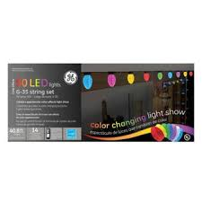 set of 50 color changing led g35 multi function ge christmas