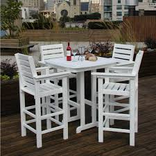 Outdoor Bistro Table Bar Height Patio Foldable Patio Bar Height Bistro Set Monaco Sets Clearance