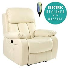 chester electric heated leather massage recliner chair sofa gaming