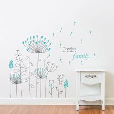 Amazon Com Dandelion Wall Decals by Amazon Com Wallflexi Wall Stickers Blue Dandelion Wall Art Murals