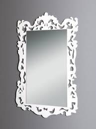 specchi con cornice specchio con cornice in plexiglas bianco vetrina s p