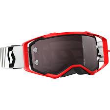 goggles motocross new scott prospect mx red white black chrome tinted motocross