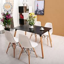 eames inspired dining table rectangular wood dining table 120 80 cm 4 seater for eames dsw