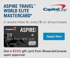 capital one gift card rewards canada receive a 250 gift card with the capital one