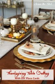 place cards diy thanksgiving table setting with diy place cards across the boulevard