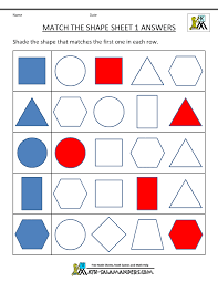 matching shapes worksheets free worksheets library download and