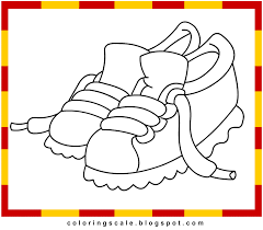 coloring page shoes coloring home