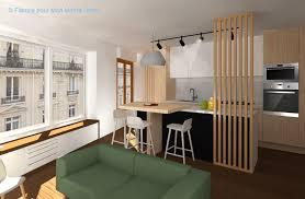 cloison cuisine salon cloison cuisine salon avec avant apr s optimiser l espace avec une