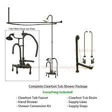 Oil Rubbed Bronze Clawfoot Tub Faucet Buy Oil Rubbed Bronze Clawfoot Tub Shower Conversion Kit With