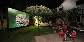 Backyard Projector Screen by High Quality Projector Screen Store Elite Screens Different