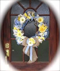 handmade owls cottage chic shabby chic fabric wreath ivory