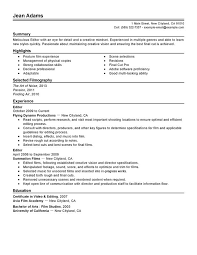 Film Assistant Director Resume Sample by Film Directors Resume Sample Assistant Director Resume Samples