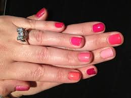 fun gelish manicure different color on every nail done by nail