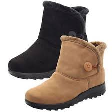 womens flat boots uk winter ankle boots flat fur boots comfy snug warm
