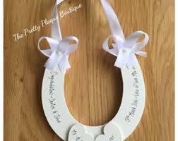 personalized horseshoes horseshoe wedding etsy