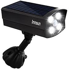 outdoor motion sensor light with camera intsun ultra bright usb solar powered 4 led motion sensor lights