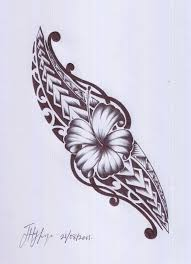 Polynesian Flower Tattoo - a samoan and maori design i would love this in oblique area