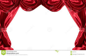 red curtains stock photo image 2027870