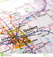 Colorado Map Of Cities by Map Of Denver Stock Photo Image 42373805