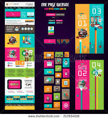 one page website flat ui design template it include a lot of flat