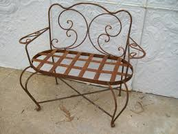wrought iron child u0027s swirl loveseat bench