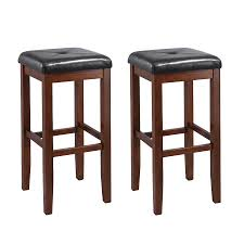 shop crosley furniture set of 2 vintage mahogany bar stools at