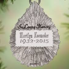 personalized remembrance ornaments personalized memorial ornament walter