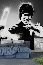 bruce lee black and white wall mural wallpaper movie wall bruce lee black and white wall mural wallpaper