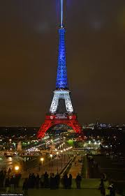 the eiffel tower is lit up with the tricolore as it reopens after
