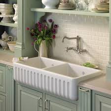 Fireclay Double Country Kitchen Sink Home Design Ideas Essentials - Shaw farmhouse kitchen sink
