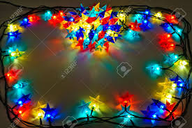 Colored Christmas Lights by Garland Of Colored Lights For Christmas Trees Spread Out To