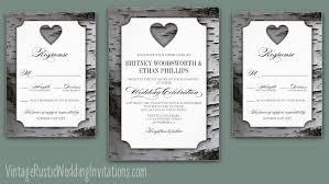 Tree Wedding Invitations Birch Tree Wedding Invitations Vintage Rustic Wedding Invitations
