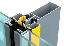 aluminum profile for curtain walls for mullions and transoms