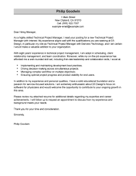 best technical project manager cover letter examples livecareer