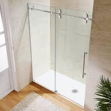 tub with glass door vigo vg6041chcl6066 60 frameless tub door 3 8 clear glass with
