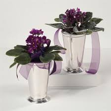 Mint Julep Vase Violets In Silver Vase From Simply Something Special Llc