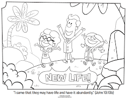 new life john 10 10b coloring page easter pinterest kids