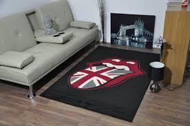 union jack flag rolling stones rug ahoc ltd