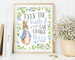 Beatrix Potter Nursery Decor Rabbit Nursery Prints Baby Shower Beatrix Potter